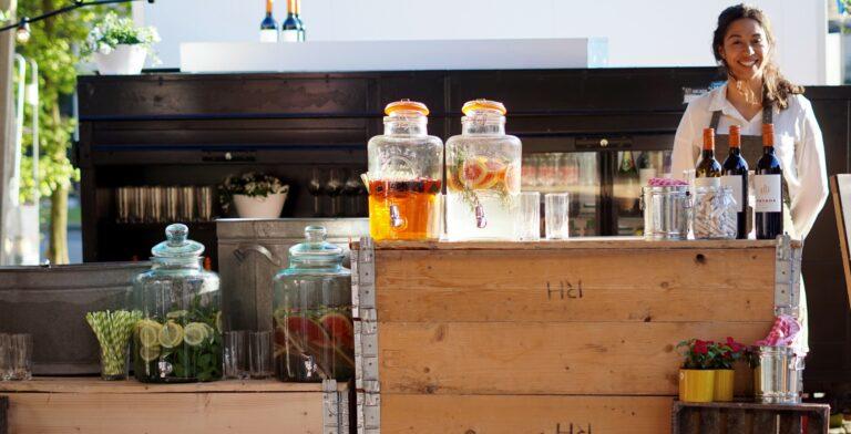 Lemonades bar op locatie